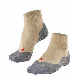 FALKE TK5 Short Women Trekking Socks, 35-36, Beige, Virgin Wool