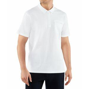 FALKE Men Polo-Shirt Polo, M, White, Block colour, Cotton