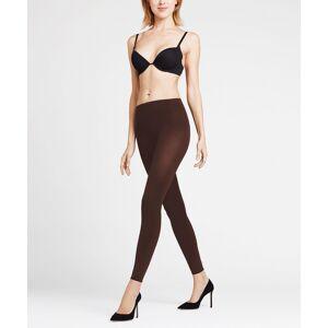 FALKE Pure Matt 100 DEN Women Leggings, L, Brown, Block colour