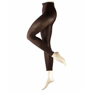 FALKE Cotton Touch Women Leggings, S-M, Brown, Block colour, Cotton