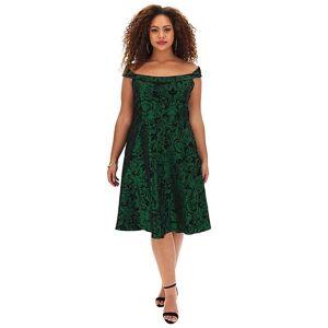 Joe Browns Festive Prom Dress  - GREEN MULTICOLOUR - Size: 16