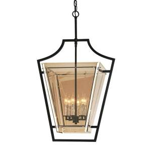Hudson Valley Lighting Domain Hand-Worked Iron 6lt Pendant Medium