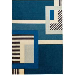 Asiatic Carpets Riley Tufted and printed Rug Blue - 120 x 170cm