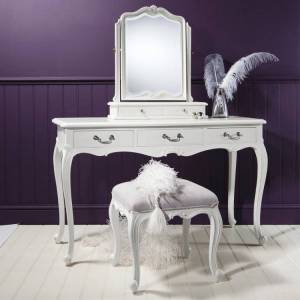 GalleryDirect Gallery Direct Chic Dressing Table in Off White