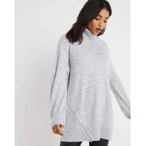 Simply Zip Tunic With Roll Neck