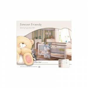 Forever Friends Little Star Lined Tab Top Curtains