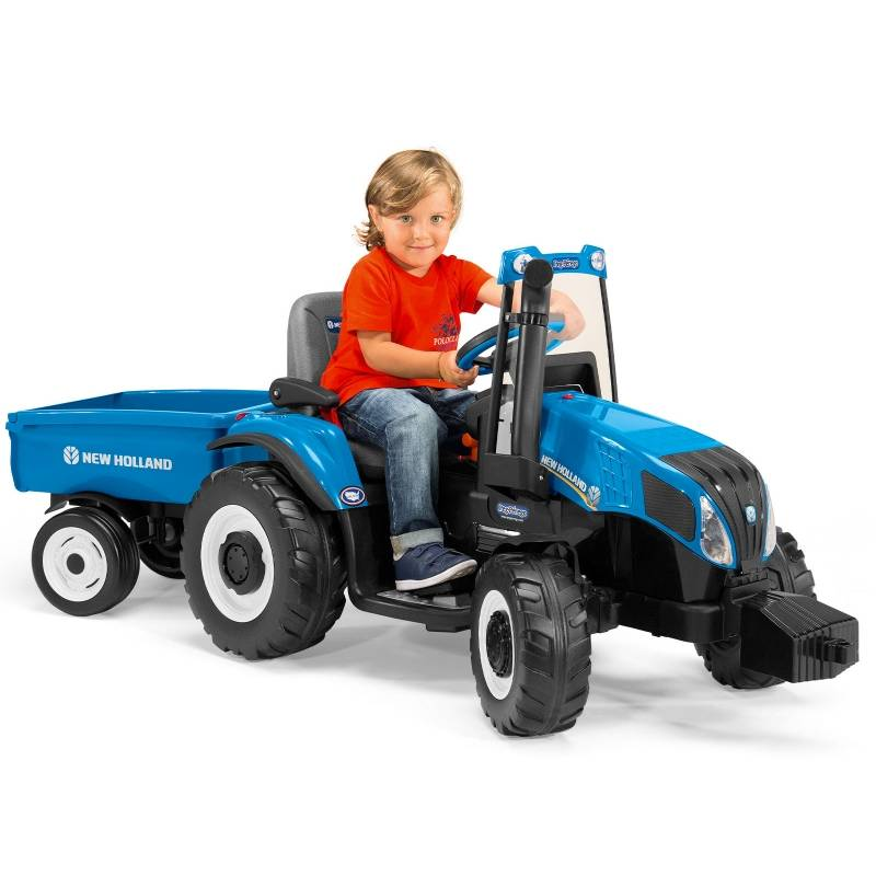 Peg Perego New Holland T8-Blue (EXCLUSIVE)