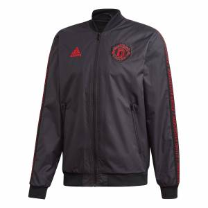 Adidas Manchester United Anthem Jacket - Black
