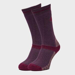 Peter Storm Women's Heavyweight Outdoor Socks - Twin Packs - Plum/Plum, PLUM/PLUM M