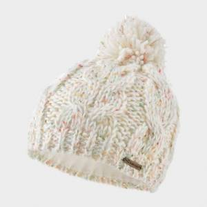 Trekmates Kids' Maisy Knit Hat Jnr - Beige/White, Beige/WHITE One Size