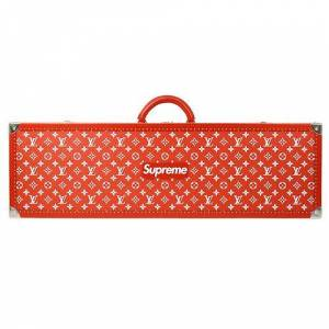 Louis Vuitton X Supreme 17Aw Boite Skateboard Trunk Red 2017 Limited Edition, Red