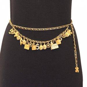 Chanel Charms belt, Black