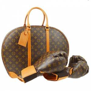 Louis Vuitton Rare! Louis Vuitton Boxing Gloves Bag Set Monogram Karl Lagerfeld Collaboration, Brown