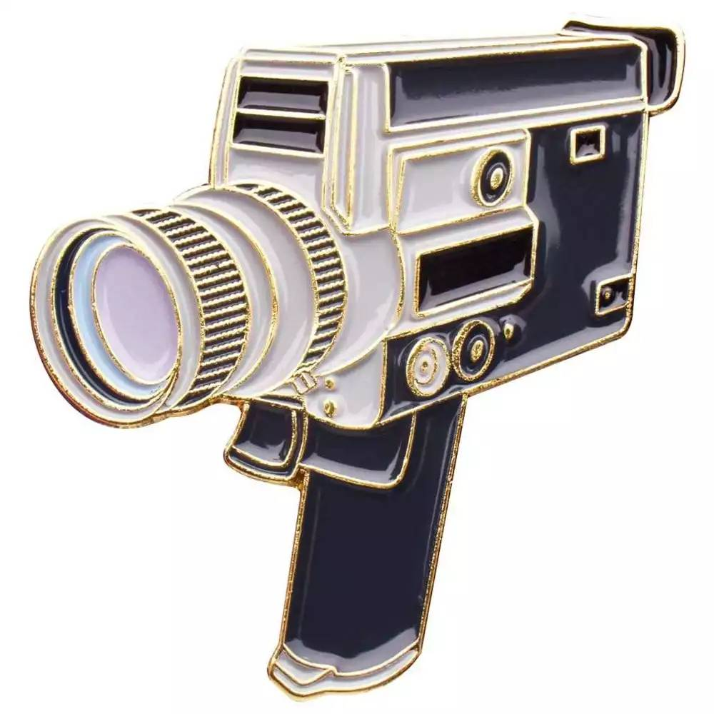 Official Exclusive Canon Super 8 8mm / 16mm Cine Camera Pin Badge