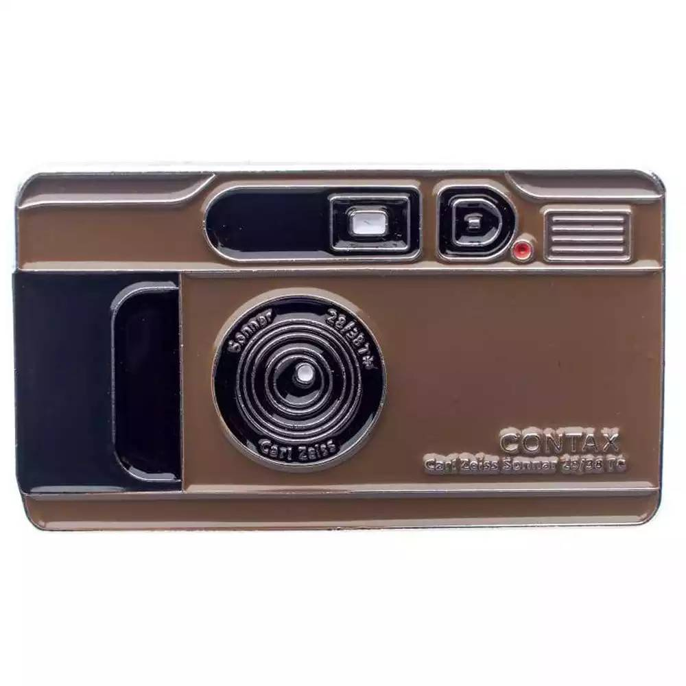 Official Exclusive Contax T2 with Carl Zeiss Sonnar 2.8/38 Camera Pin Badge