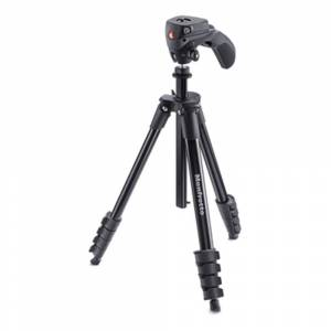 Manfrotto MKCOMPACTACN-BK Compact Action Tripod Kit Black