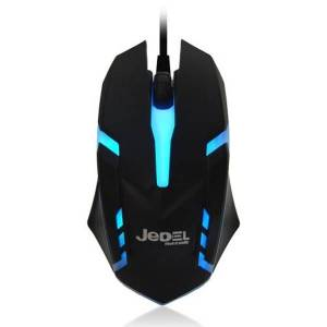 Jedel (M66) Wired Optical LED Gaming Mouse, 1000 DPI, USB, Black, 7 Colour LED Modes