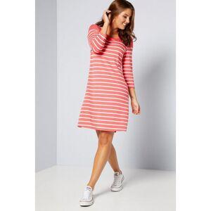 Studio 3/4 Sleeve Breton Stripe Tunic Dress  - Pink