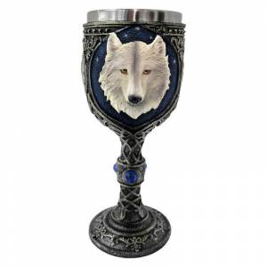 Nemesis Now Ghost Wolf Goblet  - White