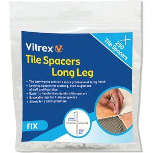 Vitrex Long Leg Tile Spacers 4mm Pack of 250