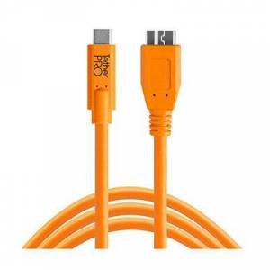 Tether Tools TetherTools TetherPro USB-C to 3.0 Micro-B 15ft (4.6m) Orange