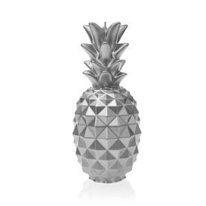 Silver Large Pineapple Candle