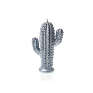 Silver Small Cactus Candle