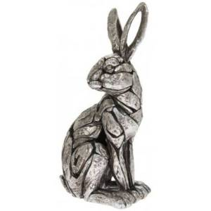 Silver Sitting Hare Natural World