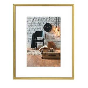 Hama Sevilla Picture Frame 20x 30cm with Mat 13x 18cm, High Quality Glass, Plastic Frame, ready to...