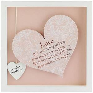 Said with Sentiment Square Heart Frames Love