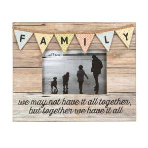 Sass & Belle Family Rustic Bunting Photo Frame