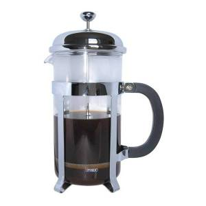 Cafe Ole by Grunwerg 6-Cup Classic Coffee Maker Glass Cafetiere Chrome Finish 0.8 Litre