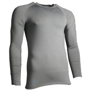 Precision Essential Base-Layer Long Sleeve Shirt Adult Grey - XS 32-34 Inch