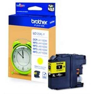 Brother LC-125XLY Ink cartridge yellow, 1.2K pages, 10ml