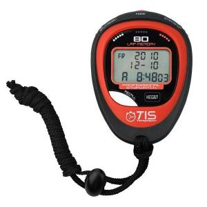 TIS Pro 134 80 Lap Stopwatch Black/Red