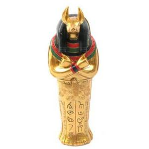Gold Egyptian Anubis Sarcophagus Trinket Box