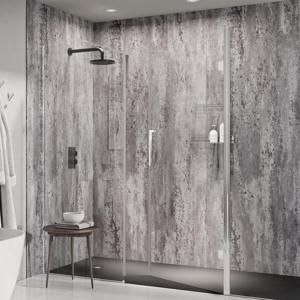 Abacus Silver Metro Metallic PVC Shower Wall Panel - 2400 x 1000mm