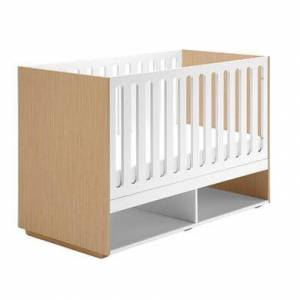 East Coast Monza Cot Bed in White and Natural