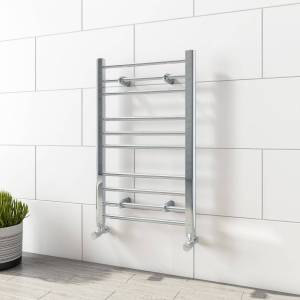 Sahara 800mm x 500mm Straight Chrome Towel Rail - Sahara