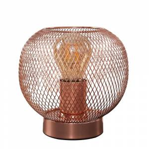 Iconic Lights Axton Wire Mesh Table Lamp in Copper