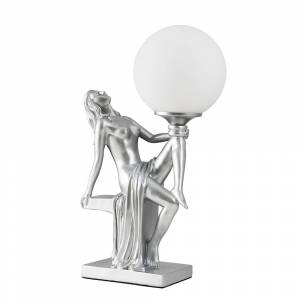 Iconic Lights Matilda Art Deco Table Lamp in Matt Silver