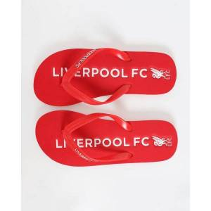 Liverpool FC LFC Adults Flip Flops  - Red - Size: 7-8