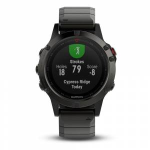 Garmin Watches Garmin Slate Gray Fenix 5 Sapphire with Metal Band 010-
