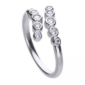 Diamonfire Silver White Zirconia Modern Ring R3658 Size K - 16 Size: S