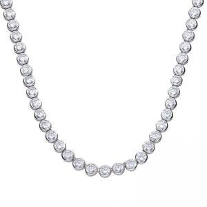 Diamonfire Silver White Zirconia Tennis Collier Necklace N4230