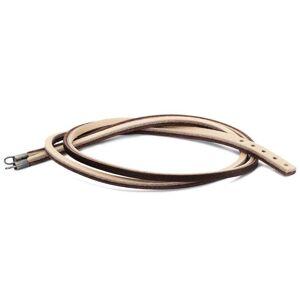 Trollbeads Brown/ Light Grey Leather Bracelet TLEBR-00041-41cm Size: S