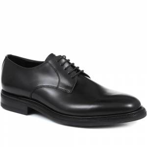 Loake by Jones Bootmaker Apache Goodyear Welted Leather Derby Shoes - LOA31501 / 317 644 - Black 7.5