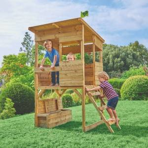 TP Toys Tree Tops Wooden Playhouse with Toy Box
