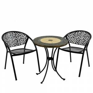 Leisure Europa Leisure Rennes Bistro Set with Florence Chairs