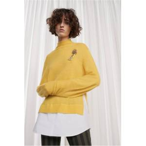 82c536f2726 French Connection Avis Embellished Knitted Jumper - bright yellow/white